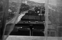 Vista desde la ventana del hotel. Butte, Montana.