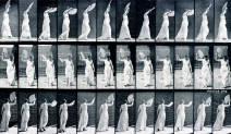 Eadweard Muybridge: Woman. Walking, and flirting a fan