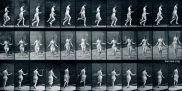 Eadweard Muybridge: Woman. Using skipping-rope