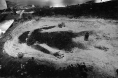 VENEZUELA. Yaracuy state. Sorte mountain. Maria Lionza cult. Silhouette. 2002.