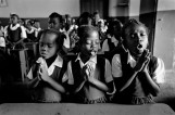 HAITI. Jacmel. casa Manana. 2001. Morning and evening prayers at a catholic school.