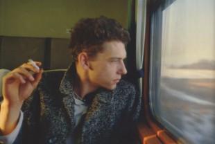 Dieter en el tren. Suede, Reino Unido. 1984