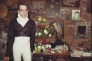 Compañero de cuarto vestido de Napoleon. Fiesta de Año Nuevo. New York City. 1980