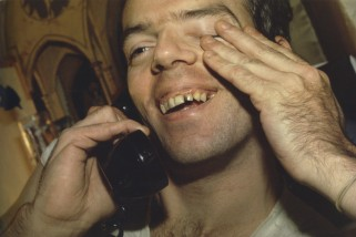 Brian al teléfono. New York City. 1981