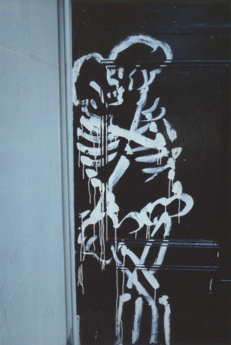 Esqueletos abrazándose. New York City. 1983