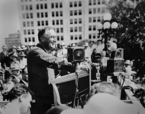 FDR at State Capitol, Topeka KA 9.14.42. Source: FDRL