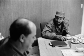 Havana. Private interview granted by Fidel CASTRO in his office at the Presidential Palace.
