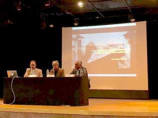 Der. Juan Carlos Valdez, Centro: Sergio Padilla, Izquierda: Óscar Colorado. Fotografía cortesía SINAFO-Fototeca Nacional