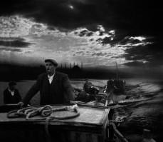 TURKEY. 1950. Kumkapi fishermen returning to port in the first light of dawn.