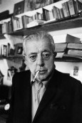 FRANCE. Paris. 1969. The french poet, Jacques PREVERT in his apartment in Pigalle at the back of the Moulin Rouge nightclub.
