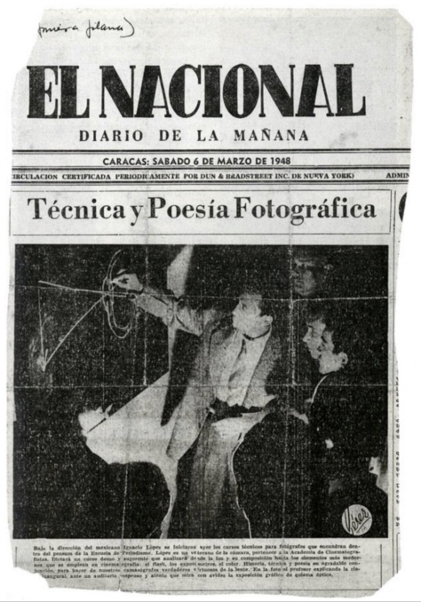 El Nacional 3 de marzo de3 1948 Técnica y poesía fotográfica Nacho López en Venezuela
