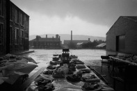 GB. England. West Yorkshire. Elland. Jubilee street party. From 'Bad Weather'. July. 1977.