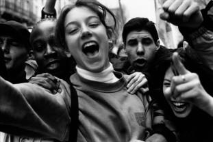FRANCE. Ile-de-France region. Seine-Saint-Denis department. Town of Saint-Denis. April-May 1998. Schoolchildren demonstrating against the lack of teachers.
