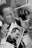 French actor Gérard DEPARDIEU with pictures of his parents Lilette and Dédé.