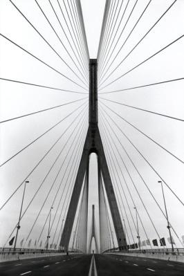 CHINA. Shanghai. Nouveau pont (le plus grand d'Asie) sur le Wang Po.