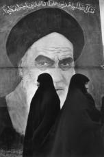Teheran. Women supporters of the Ayatollah Khomeini.