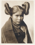 'Chaíwa-Tewa.' A portrait of a young, female Hopi Indian *photogravure *numbered 414 in the margin *image to view 401 x 301mm. *Suffolk Engraving Company *1921